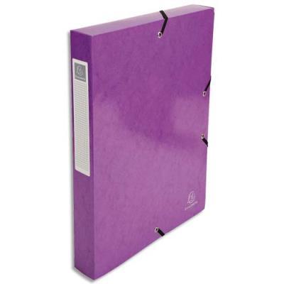 Boîte de classement Exacompta Iderama - carte pelliculée 7/10e - dos 4 cm - violet
