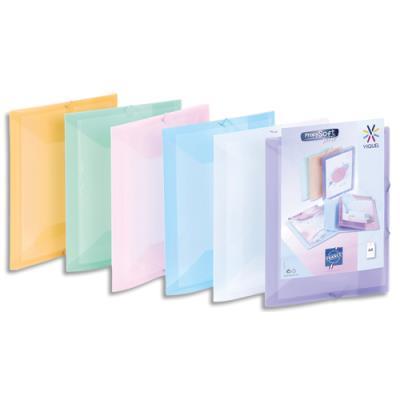 Chemise 3 rabats et élastique personnalisable Viquel Propysoft - polypro 5/10e - A4 - coloris assortis