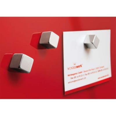 Aimants cube - permet d'afficher environ 8 feuilles A4 - lot de 6 (photo)