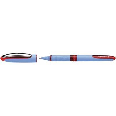 Stylo roller Schneider One Business Hybrid - pointe aiguille hybride 0,5 mm - grip ergonomique - rouge