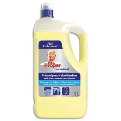 Nettoyant multi-usages Monsieur Propre - parfum fraicheur citron - bidon de 5L (photo)