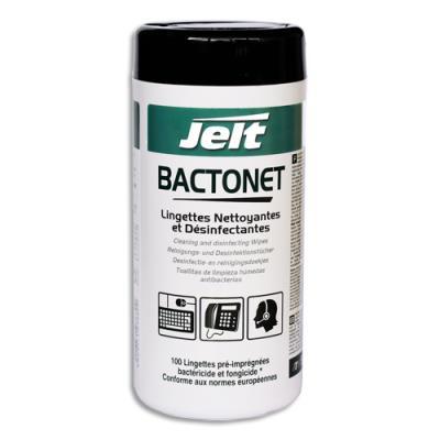Boîte de 100 lingettes Jelt nettoyantes anti bactérie bactonet (photo)