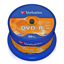 Verbatim - 50 x DVD-R - 4.7 Go 16x - argent mat - spindle (photo)