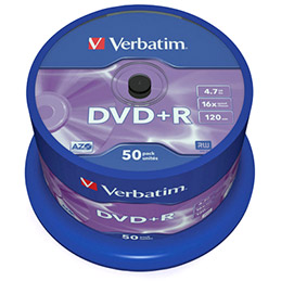 Verbatim - 50 x DVD+R - 4.7 Go 16x - argent mat - spindle (photo)