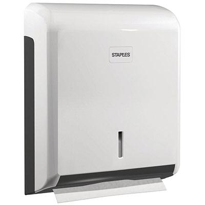 Distributeur d'essuie-mains en papier - plastique ABS - fermeture à clé - 265 x 340 x 110 mm - blanc (photo)