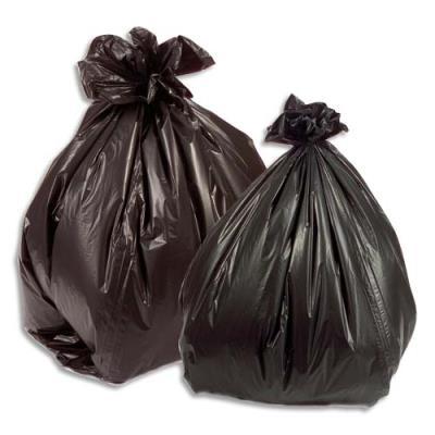 Sacs poubelles pour déchets légers - 100 L - noir - 35 microns - lot de 200 sacs (photo)
