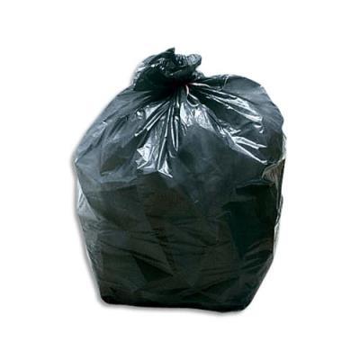 Sacs poubelles multi usages - 110 L - noir - 35 microns - lot de 200 sacs (photo)