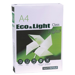 Papier blanc Eco&Light - 75 g - A4 - ramette de 500 feuilles (photo)