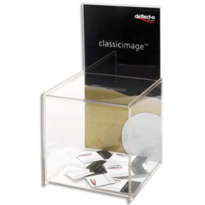 Urne avec porte affiche - transparente