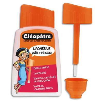 Colle synthétique transparente - flacon avec pinceau 80 ml ecole