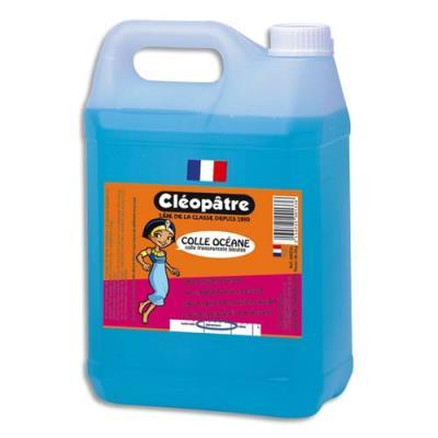 Colle synthétique transparente - colle bleue Océane - bidon de 5 litres ecole (photo)