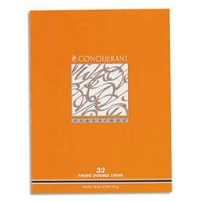 Cahiers Conquérant Apprentissage de l'écriture -  17 x 22 cm - 32 pages - Secail 2,5 mm
