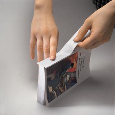 Film adhésif en toile de coton - 240µ - 5 cm x 10 m - coloris blanc (photo)