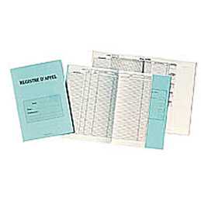 Registre d'appel avec découpe - A4 - 24 pages.