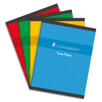 Cahiers Conquérant 7 - piqûre 17 x 22cm - 48 pages grands carreaux et 48 pages dessin 70 g