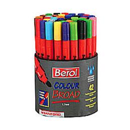Pochette de12 feutres Bérol / couleurs assorties Ecole (photo)
