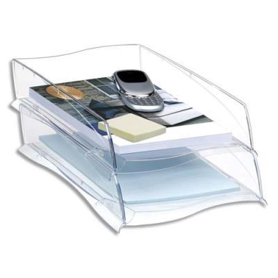 Corbeille à courrier Cep Isis - format 38x8,2x27,5 cm - coloris cristal