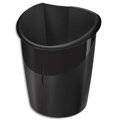 Corbeille à papier Cep Isis - 15 litres - coloris noir (photo)