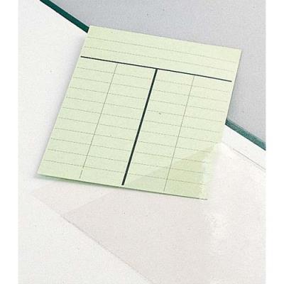 Fiches bibliothèques - Rouleau de 500 pochettes adhésifs porte fiche 95x135 mm (photo)