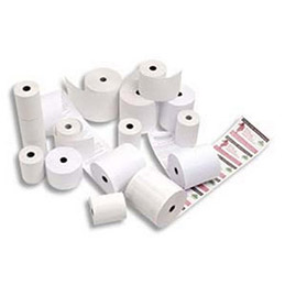 Bobine papier thermique pour imprimante portative type ingenico 8550 - format 57 x 30 x 12 mm x l 10 m (photo)