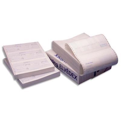 Paquet de 600 lettres de change Lebon & Vernay - listing en continu - format 240 x12'' - 3 traites par paravent (photo)