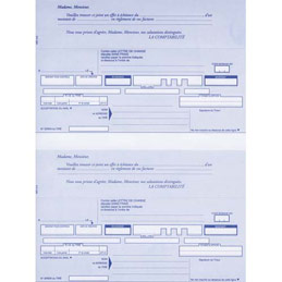 Paquet de 200 lettres de change Lebon & Vernay - 21 x 29,7 cm - 100 feuilles - 2 traites prédécoupées+bordereaux préimprimé (photo)