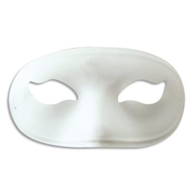 Masque en plastique blanc à décorer / Loup simple Ecole