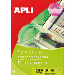 Film transparent Agipa - pour photocopieur - antistatique - boite de 100 (photo)
