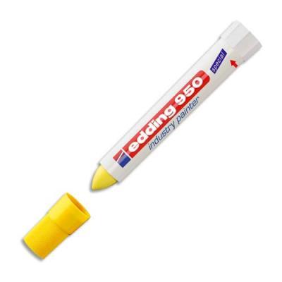 Marqueur industriel Edding E 950 - pointe ogive 17 mm - jaune