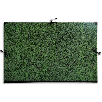 Carton à dessin 67 x 94 cm Annonay vert avec cordons de fermeture Exacompta (photo)