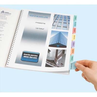 Onglets adhesifs personnalisables Avery - coloris assortis - lot de 4 planches de 24