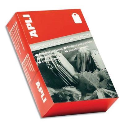 Etiquette - à fil blanc - spéciale bijouterie  - format 18 x 29 mm - boîte de 1000 étiquettes (photo)