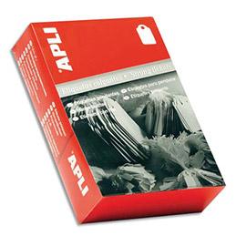 Etiquette - à fil blanc - spécial bijouterie - format 28 x 43 mm - boîte de 500 (photo)