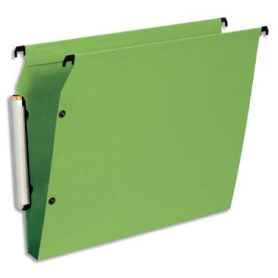Dossiers suspendus Esselte Premium opaque - fond 30 - pour armoire - vert - paquet de 10