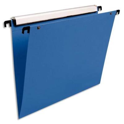 Dossiers suspendus en polypro bleu Esselte - pour tiroir - fond V - paquet de 10