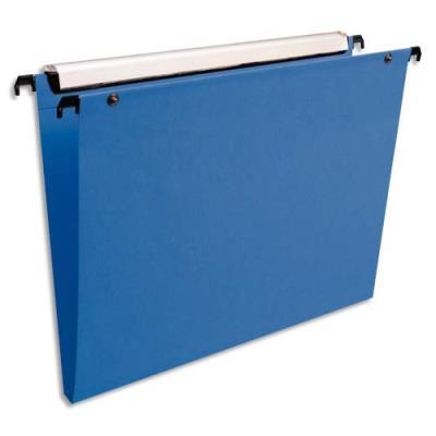 Dossiers suspendus Esselte Premium opaque - fond 15 - pour tiroir - bleu - paquet de 10