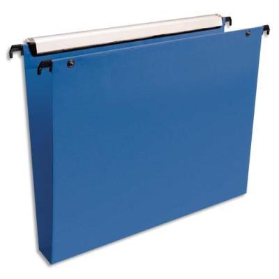 Dossiers suspendus Esselte Premium opaque - fond 30 - pour tiroir - bleu - paquet de 10