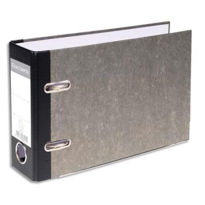 Classeur à levier Exacompta en carton - dos 70mm - format 17,5 x 29 cm - gris
