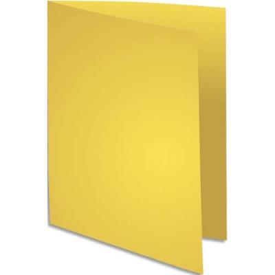 Chemise Exacompta Flash - carte recyclée 220 g - teinte vive jaune - 24 x 32 cm - paquet de 100