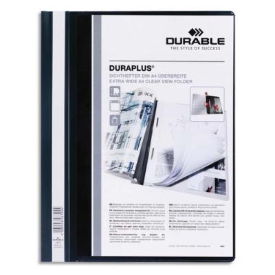 Chemise de présentation à lamelles personnalisable Durable Duraplus - 24 x31 cm - noir (photo)