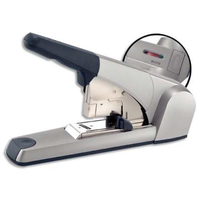 Agrafeuse Leitz 5552 grande capacité technologie Flat Clinch - utilise les agrafes 25/10  - gris métal - 60 feuilles