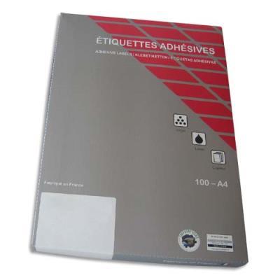 Etiquettes Techmay Logetiq - 63.5x38.1 mm - jaune - laser -  jet d'encre - copieur - boîte de 2100