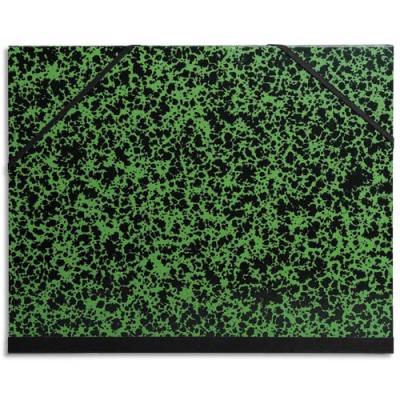 Carton à dessin 37 x 52 cm Annonay vert avec élastiques Exacompta (photo)