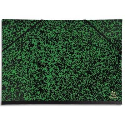 Carton à dessin 32 x 45 cm Annonay vert avec élastiques Exacompta (photo)