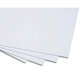 Cartons mousse blanc 50x65 cm épaisseur 5mm Ecole - lot de 5 (photo)