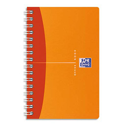 Carnet Oxford Office  - reliure intégrale - 9x14cm - 180 pages - 5x5 - Couvertures polypro assorties - My Color (photo)