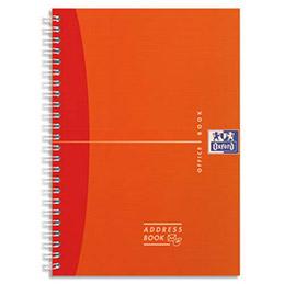 Répertoire Oxford Office - Adress Book RI 12x15cm - 160 pages - réglure spécifique - couverture polypro assortie