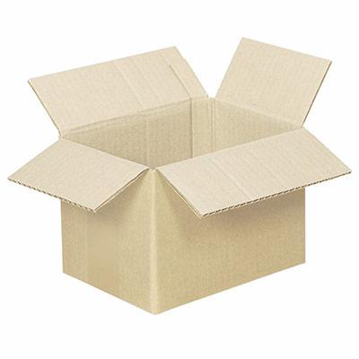 Caisse américaine simple cannelure 20 x 14 x 14 - utilisation : plat pour 10 CD (photo)
