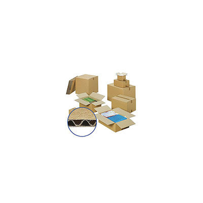 Caisse américaine simple cannelure 31 x 22 x 25 cm (photo)