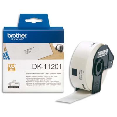 Rouleau de 400 etiquettes d'adresses Brother DK-11201 - 29 x 90 mm (photo)